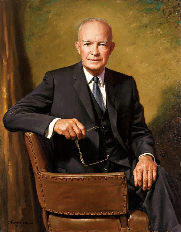 Dwight D. Eisenhower official Presidential portrait